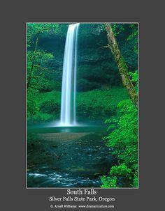 South Falls  Silver Falls State Park, Oregon  G. Arnell Williams: www.dramainnature.com