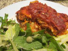 Healthy vegie lasagne