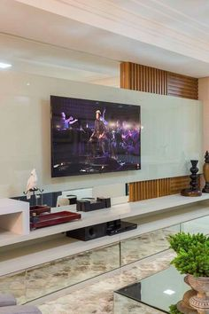 New Apartment Living Room Wall Tvs 42 Ideas Cute Living Room, Living Room Modern, Living Room Decor, Apartment Interior, Apartment Living, Apartment Decorating For Couples, Modern Tv Wall Units, Living Room Tv Unit Designs, Muebles Living