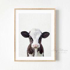 Baby Cow Print, Nursery Farm Animal Wall Art, Nursery Baby Animal Art by Amy Peterson – Lauren Trojan - Baby Animals