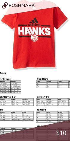 ADIDAS NBA Toddler Boys Atlanta HAWKS Red 4T Shirt Adidas  NWT - New With Tags  Red  Atlanta Hawks  T-Shirt  4T  Short Sleeved  100% Cotton   Please Review Photo for Sizing adidas Shirts & Tops Tees - Short Sleeve