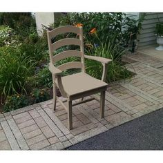 A&L Furniture Poly Ladderback Dining Arm Chair Color: