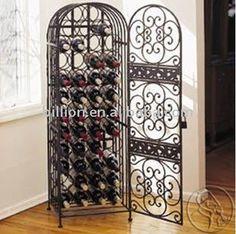 wrought iron wine rack $1~$50