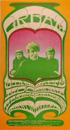 "Vintage concert poster ""Creamsicle""   Cream, Grande Ballroom   Detroit, Michigan   10/13-15/1967"