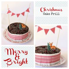 Christmas Cake Frill | A Spoonful of Sugar