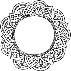 Bible Coloring Pages, Mandala Coloring Pages, Free Printable Coloring Pages, Mandalas Painting, Mandala Drawing, Mandala Art, Henna Patterns, Lace Patterns, Embroidery Patterns