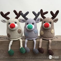 free crochet pattern in Dutch - Stip & HAAK: Rendiertje Rex Christmas Crochet Patterns, Holiday Crochet, Crochet Toys Patterns, Christmas Knitting, Amigurumi Patterns, Cute Crochet, Crochet Crafts, Yarn Crafts, Crochet Projects
