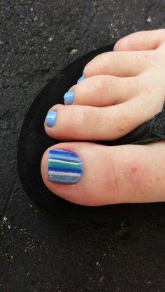 Blue pinstripes  www.aroyalpampering.com