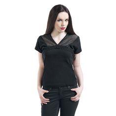 Short V-Neck Mesh - Girlie trøje af Spiral - Artikelnr.: 253644 - fra 129,95 kr - EMP Danmark ::: Merchandise ::: Streetwear ::: Modetøj