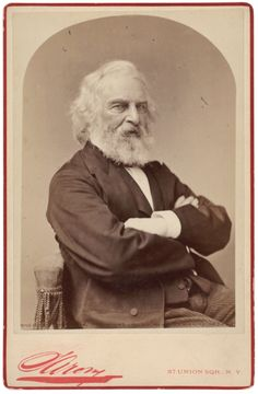 "Napoleon Sarony, ""Henry Wadsworth Longfellow"", ca. 1882, Albumen cabinet card."