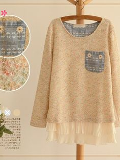 candy color chiffon sweater