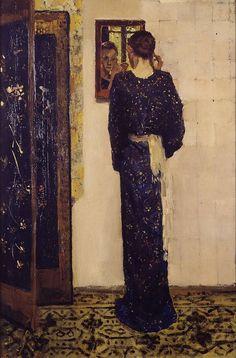 """""""George Hendrik Breitner. The Earring. 1893."""" Repinned from @Kristen Vinakmens."""