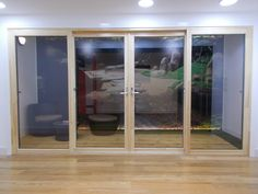 #timber #bipartingdoors available to view at our showroom in Falkirk & High performance #aluclad #bifold doors available to view at ...