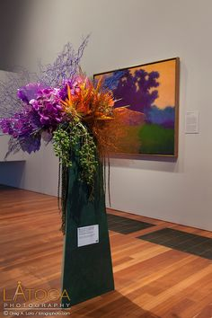 Waterlily Pond Floral Design Studio installation for 2013 Bouquets to Art at the de Young Museum, San Francisco.