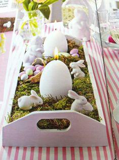Una centrotavola per fatto per la tavola pasquale - #Easter #Table #Decoration #decorazioni #Pasqua