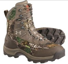 New Men Under Armour Brow Tine Goretex Real Tree Camo Hunting Boot Size 9 42.5 #UnderArmour