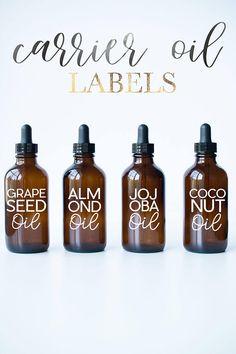 Everyday Mini Labels Essential Oil Labels Essential Oil Vinyl - Vinyl stickers for glass bottles