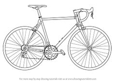 This easy tutorial will help you learn to draw a cartoon bicycle! So let's see how you could draw a simple bicycle in seven easy steps! Finally, add the basic shapes for the saddle, the handlebars and the pedal. Bicycle Sketch, Bicycle Drawing, Bike Drawing Simple, Car Drawings, Drawing Sketches, Drawing Tips, Drawing Ideas, Sketching, Desenho Tattoo