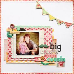 deb duty {photography + scrapbooking}: crate paper: layouts inspired by cards