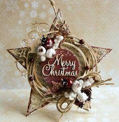 Dorota_mk: Gwiazda I would love to try and make this Christmas Makes, Noel Christmas, Christmas Gift Tags, Winter Christmas, Handmade Christmas, Christmas Wreaths, Christmas Paper Crafts, Christmas Projects, Holiday Crafts