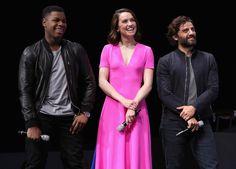 Star Wars actors John Boyega, Daisy Ridley and Oscar Isaac.