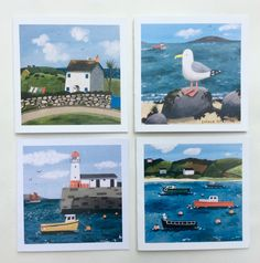 4 designs Blank inside for your own message Size of card 150 mm X 150 mm Envelope provided and cellophane wrapped Free p&p