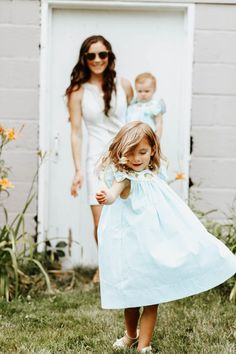 Mom and Daughters Photo - Twirling Daughter Outside - Mommy and Me Summer Dresses