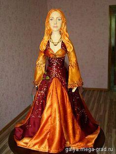 Кукла Роксолана-Хюррем - скульптура для интерьера, портретная кукла. МегаГрад - online выставка-продажа авторской ручной работы
