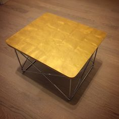 Vitra collection: Eames occasional table LTR, 24 carat leaf gold