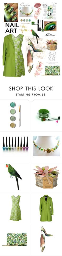 Green With Envy: Wintery Nail Polish by belladonnasjoy on Polyvore featuring beauty, Terre Mère, Lime Crime, Oscar de la Renta, Moschino Cheap & Chic, Christian Louboutin, Christian Dior, RGB Cosmetics and WALL