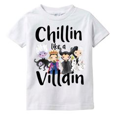 Oh my! This Chillin like a Villain shirt with Disney villains is too cute! Such a great shirt for a Disney World vacation.