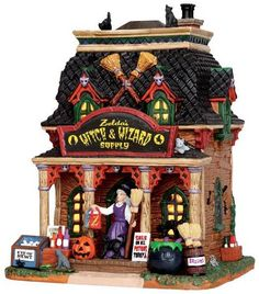 35601 - Zelda's Witch & Wizard Supply - Lemax Spooky Town Halloween Village Houses & Buildings - Lemax Village Collectibles