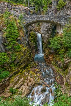 Christine Falls (Mt Rainier National Park, Washington) by Philip Kuntz on Oregon Travel, Travel Usa, Seattle Travel, Vacation Places, Places To Travel, Vacations, Yasmine Galenorn, Oh The Places You'll Go, Places To Visit