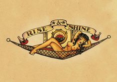 Sailor Jerry: Rise & Shine. Tattoo Art Print/Poster/Canvas. Sizes: A1/A2/A3