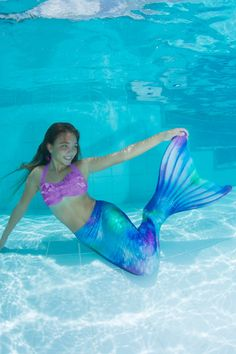 Mermaid Tails for Swimming by Fin Fun in Kids and Adult Sizes - Limited Edition - Monofin Not Included Girls Mermaid Tail, Mermaid Swim Tail, Mermaid Tails For Kids, Mermaid Pose, Watercolor Wave, Kids Swimming, Kids Girls, Technology, Legs