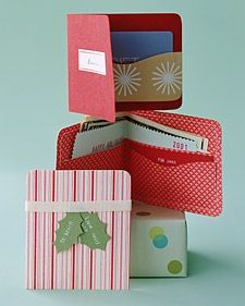 Handmade gift card and money holders help to make it that much more personal.