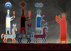 """Tsar of Water, Tsar of Earth, Tsar of Heaven"" Pagan Gods, Space Fantasy, Pagan Art, European History, Gods And Goddesses, Middle Ages, Art Google, Folk Art, Illustration Art"