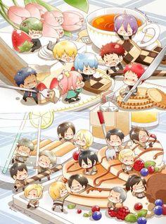 Sweet <3 attack on Titan and kuroko no basuke