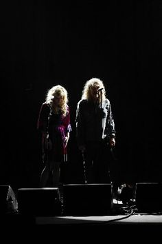 Allison Krauss and Robert Plant