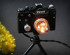 Camera lamp - ZENIT camera lamp - Camera light - Vintage lamp