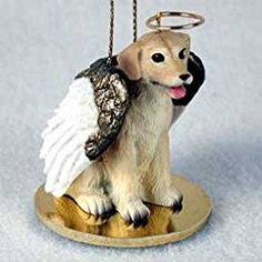 Yellow Labrador Retriever Tiny One Dog Angel Christmas Ornament