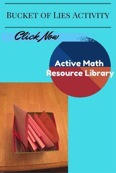 Bucket of Lies   Algebra Activity   Math Games   Error Analysis   Algebra   Math Activity   Math teaching Ideas   Math Games 7-12   Maths