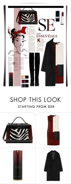 """""""COAT N OVER THE KNEE BOOTS"""" by emcf3548 ❤ liked on Polyvore featuring 3.1 Phillip Lim, Mulberry, Edun, Kevyn Aucoin, Sam Edelman and Chanel"""