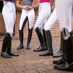 Equestrian Girls, Equestrian Outfits, Equestrian Style, Horse Riding Boots, Black Riding Boots, Tall Leather Boots, Leather Riding Boots, Boots And Leggings, Jeans And Boots