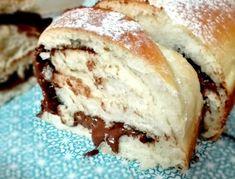Pan Brioche (solo albumi) alla crema di nocciole   AppuntiDiGusto Great Desserts, Biscotti, Cookie Recipes, Banana Bread, Cheesecake, Food And Drink, Cookies, Breakfast, Kitchenaid