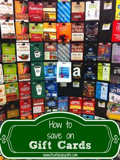 How to Save on Gift Cards