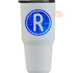 Excited to share this item from my #etsy shop: Monogram, Initial Decal, Initial Sticker, Letter Decal, Letter Sticker, Circle Initial Monogram Frame, Monogram Initials, Letter Decals, Yeti Cup, Mailbox, Tumbler, Water Bottle, Etsy Shop, Lettering