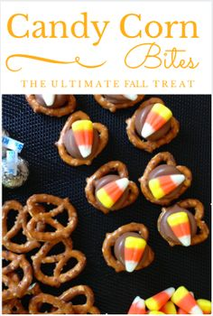 Easy Candy Corn Chocolate Pretzel Bites - used pumpkin spice kisses instead, was so yummy! Halloween Pretzels, Halloween Snacks, Halloween Ideas, Halloween Breakfast, Preschool Halloween, Preschool Snacks, Halloween Goodies, Halloween Activities, Halloween Crafts