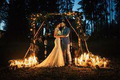 Рустикальная свадьба в пастельных тонах, свадебная арка - The-wedding.ru