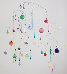 "Julia Condon ""Mobile of Rainbow Lights"" 2016. 57""x63"""